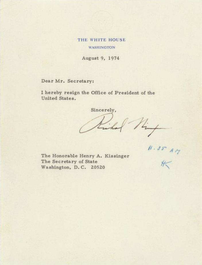 Письмо Ричарда Никсона