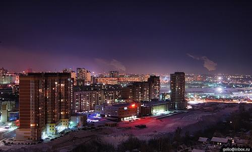 Фотографии ночного Новосибирска