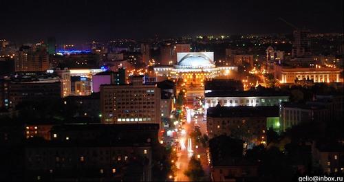 Новосибирск ночью
