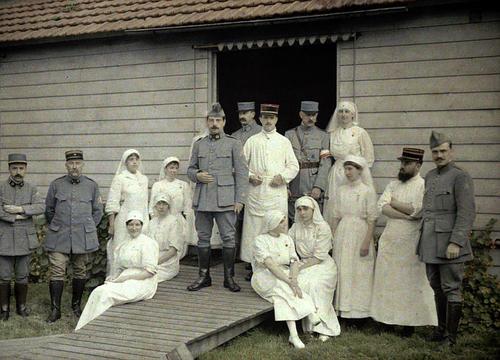 Цветные фотографии Первой мировой