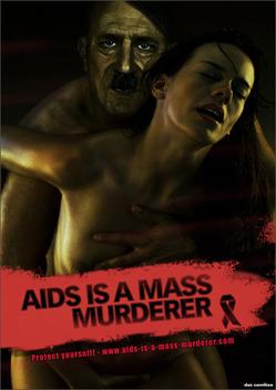 Гитлер в рекламе анти-СПИД