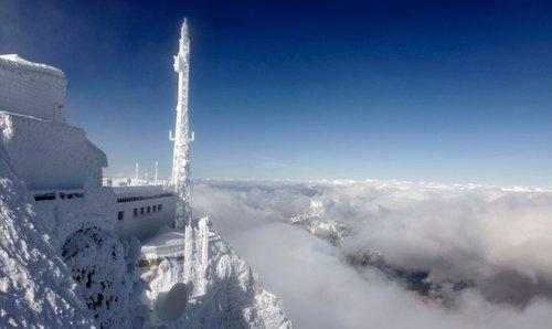Снегопад в Баварии
