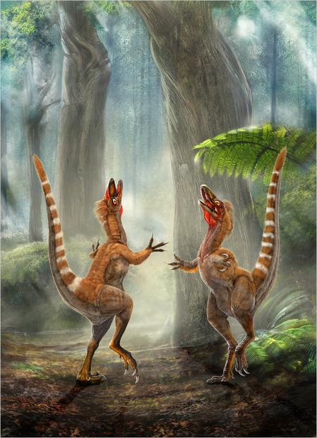 Цветные динозавры