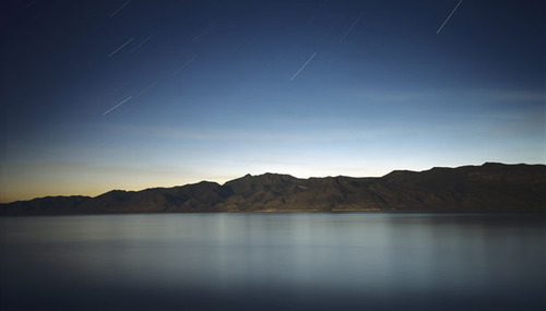 Pyramid Lake at Night