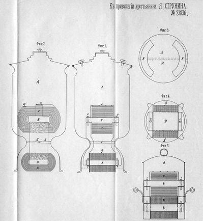 Электрический нагревательный прибор в виде самовара