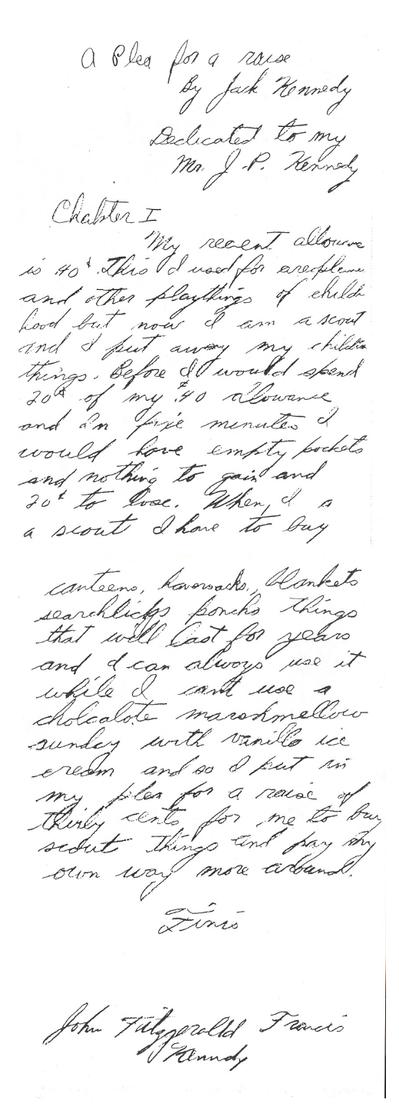 Письмо Кеннеди