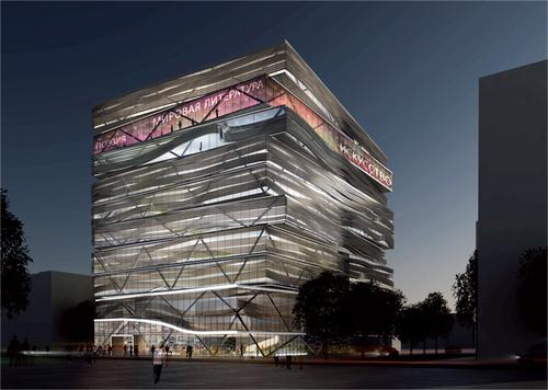 Проект здания библиотеки в Новосибирске