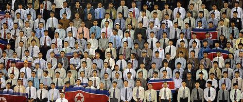 Северокорейские болельщики