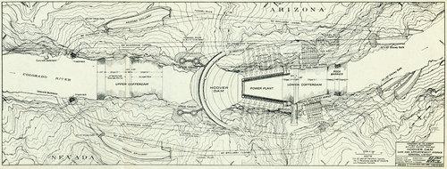 План плотины Гувера
