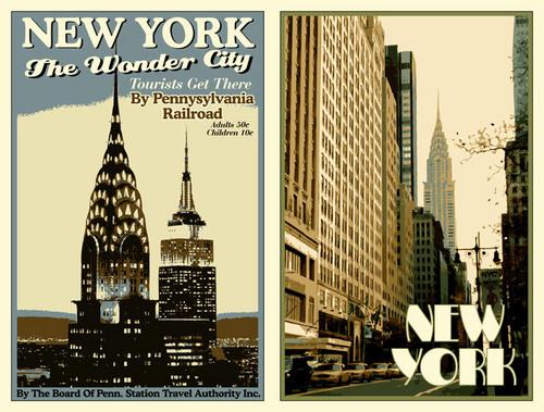 Старые плакаты Нью-Йорка