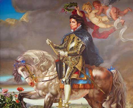 Майкл на коне