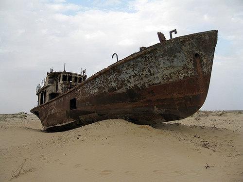 Корабли в Аральском море