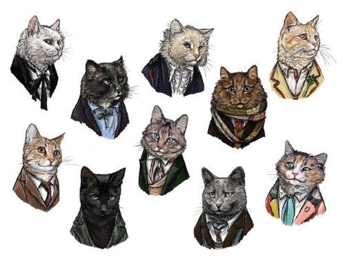 Коты в костюмах