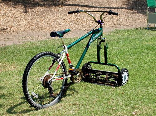 Велосипед-газонокосилка