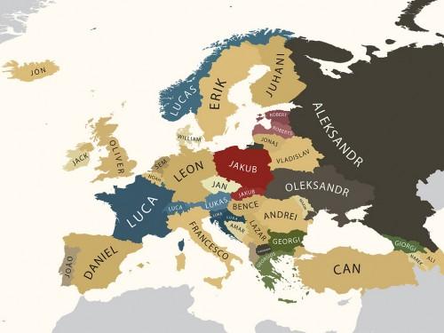 Карта мужских имен