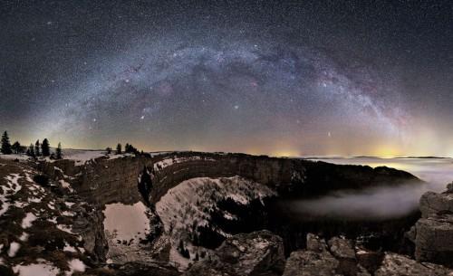 Млечный Путь над Швейцарией