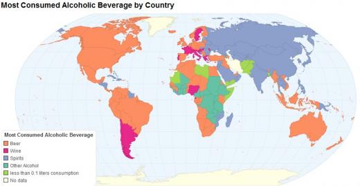 Алкогольная карта мира