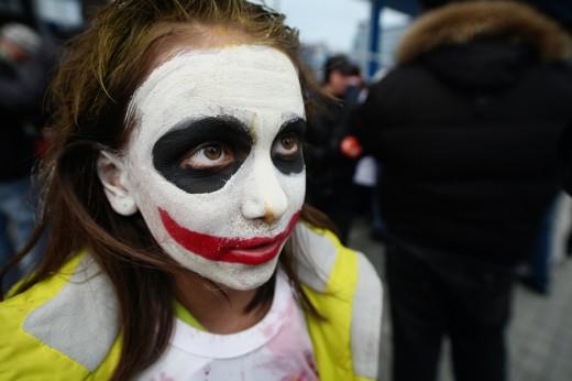 Демонстрация зомби и вурдалаков