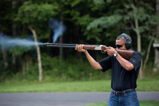 Президент с ружьем