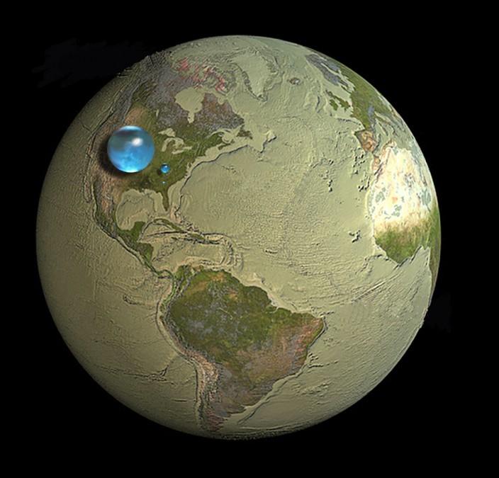 Какой объем воды на Земле